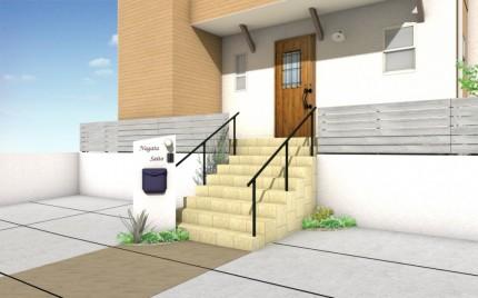 外観パース OPEN HOUSE 新築完成見学会 APOA 2020年2月8日9日 三重県津市