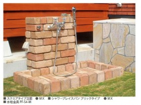 ニッコー シャワープレイス スクエアタイプ 立水栓 混合水栓 水うけ ペット