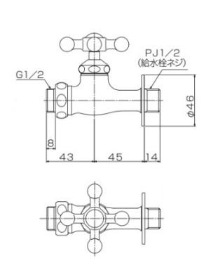 オンリーワン 蛇口 ホーズ接続用蛇口 GM3-F-205