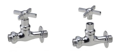 ニッコー 飾り蛇口Nシリーズ キー付補助蛇口ウエッジクロス クロームメッキ