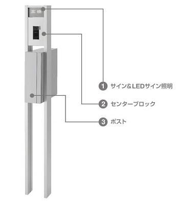 アクシィ2型 ファンクションユニット 機能門柱 LIXIL