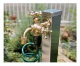 オンリーワン 蛇口 ガーデニング二口水栓 二口万能胴長水栓