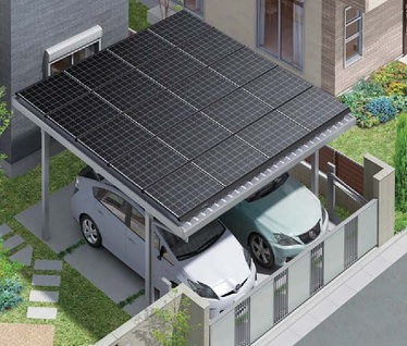 LIXIL カーポート ソーラーパネル