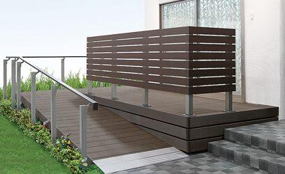 スロープ 樹ら楽ステージ ガーデンスペース デッキ LIXIL