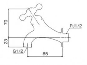 オンリーワン 蛇口 T14型耐寒水栓 横水栓