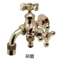 オンリーワン 蛇口 不凍水栓 不凍二口万能胴長水栓 研磨 HV3-FBDT-B