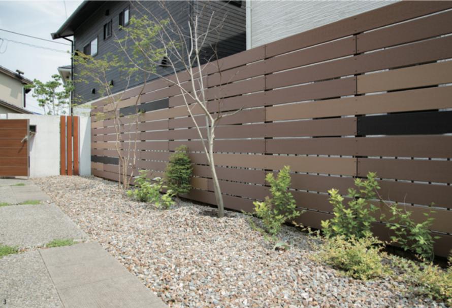 エコモックフェンス 樹脂フェンス 株式会社土新建材 庭づくり ガーデン 庭 目隠し ウッドフェンス