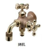 オンリーワン 蛇口 不凍水栓 不凍二口万能胴長水栓 鋳肌 HV3-FBDT-E