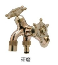 オンリーワン 蛇口 T14型耐寒水栓 ラダーハンドル HV3-T16F-RB 研磨