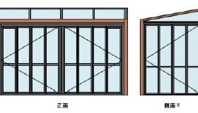 開口部 折れ戸タイプ ガーデンルームGF LIXIL