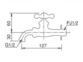 オンリーワン ガーデニング水栓 万能ホーム胴長水栓