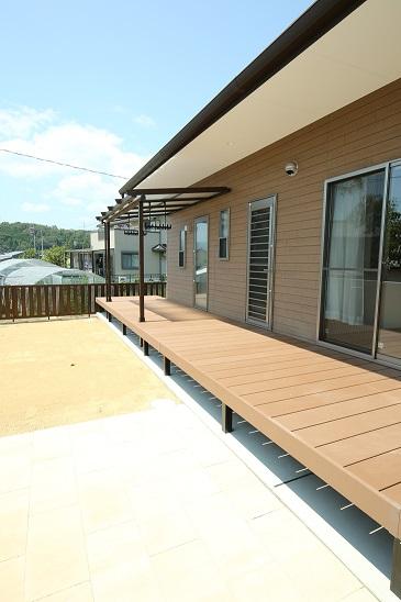 三重県津市の新築平屋住宅、縁側