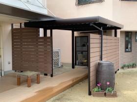 ウッドパネル 渡り廊下 ウッドデッキ 木質化 APOA 三重県津市