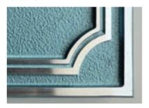 オンリーワン 表札 エリソンナチュラル フレーム アクアマリンメタリック ミッドナイトブルー アーバングレー HF1-FR19AQ HF1-FR19MN HF1-FR19GR 枠飾り