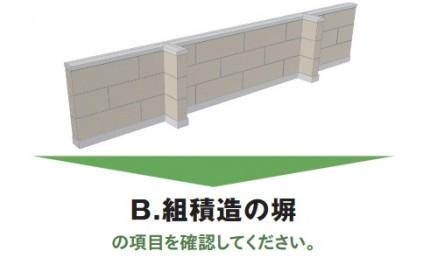 組積造の塀 安全点検