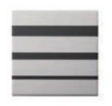 オンリーワン 表札 プロファウンド KS1-A0911 ブラックガラス 装飾パーツ ブラインド KS1-A0913