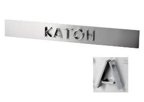 オンリーワン 表札 オービット KS1-A129A ヘアライン