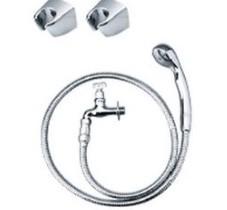ニッコーシャワー用水栓金具 キー付横水栓メタルホース シャワーヘッド フック
