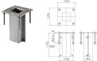 カモプロップ ミズタニバブル工業 立水栓 水柱栓 ウッドデッキ用金具
