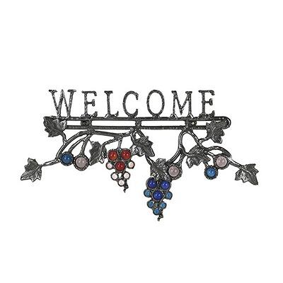 オンリーワン表札 シャインガラス オリジナルサイン ブドウ PA1-S22I