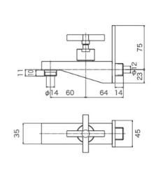 オンリーワン 蛇口 ラフィネ GM3-F-810 デザインプレートタイプ