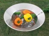 ガーデンパン H03-405 ステンレス中鉢 H03-407 ステンレス平鉢