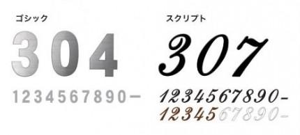 オンリーワン 表札 ナンバーサイン