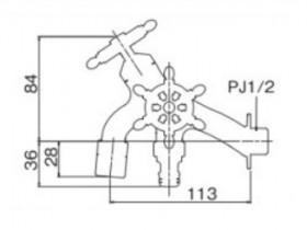 オンリーワン 蛇口 T14型耐寒水栓 ラダーハンドル