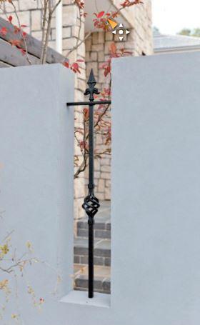 APOA,アイアン,フェンス,白い壁,新築,エクステリア