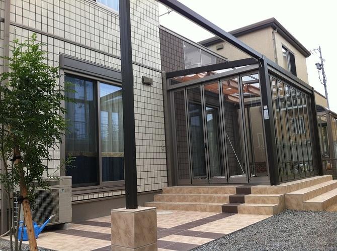 サンルーム施工例亀山1