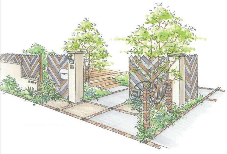 APOA,アポア,ヘリンボーン,塀,天然木